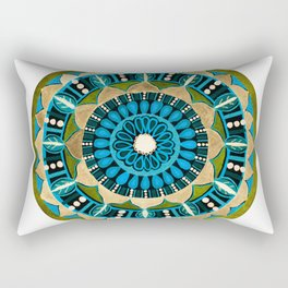 Sprouting Seeds Mandala Rectangular Pillow