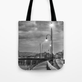 Early Winter evening St. George's Quay, Lancaster Tote Bag
