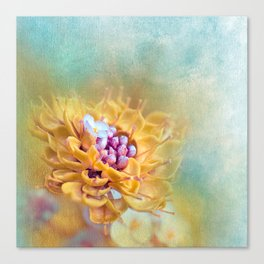 VARIE SQUARE - Floral and painterly texture work Canvas Print