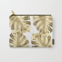 Monstera Gold Carry-All Pouch