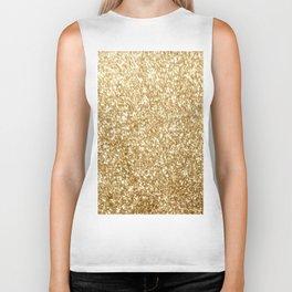 Gold glitter Biker Tank