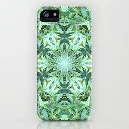 Mary Jane Mandala 2 (green) iPhone Case