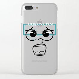 Motivational Focus Tshirt Design Focus on eyes Clear iPhone Case