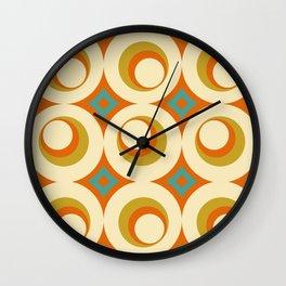 Mid-Century Modern Orange Wall Clock