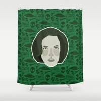 scully Shower Curtains featuring Dana Scully by Kuki