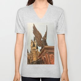 Hogwarts entrance boar Unisex V-Neck
