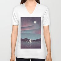 northern lights V-neck T-shirts featuring Descendant Of The Northern Lights by Annisa Tiara Utami