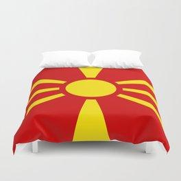 Macedonian national flag Duvet Cover