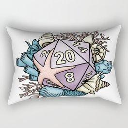 Mermaid D20 Tabletop RPG Gaming Dice Rectangular Pillow