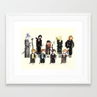 lord of the rings Framed Art Prints featuring Lord of the Rings by LOVEMI DESIGN