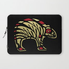 Tribal Black and Gold Bear Symbol Laptop Sleeve