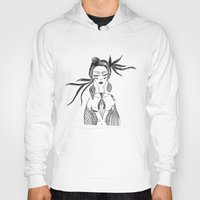 native Hoodies featuring NATIVE  by Adriana Mateus