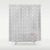 minimalism Shower Curtains featuring Minimalism of l by Stoian Hitrov - Sto