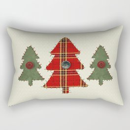 Country Christmas Trees Rectangular Pillow
