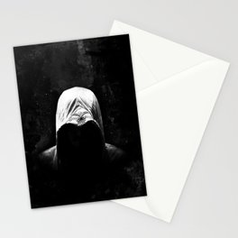 Native Assassin Hood - B&W Stationery Cards