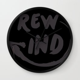 Rewind Wall Clock