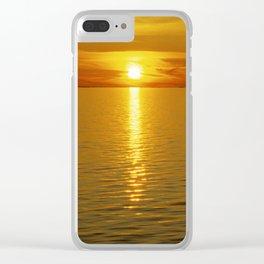 Swedish Sunset Clear iPhone Case