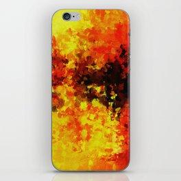 Yellow Abstract Art iPhone Skin