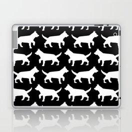 Black with white dogs pattern  Laptop & iPad Skin