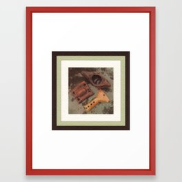Iron, Wood, Copper Framed Art Print