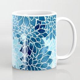 Space Dahlias Blue Ice Coffee Mug