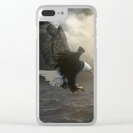 The girl and the eagle Clear iPhone Case