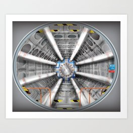 The Large Hadron Collider Art Print