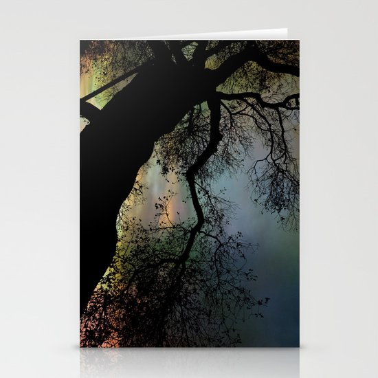 Night Fall by The Tree Stationery Cards