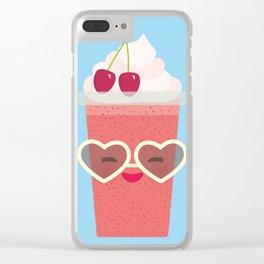Hello Summer Kawaii cherry smoothie Clear iPhone Case