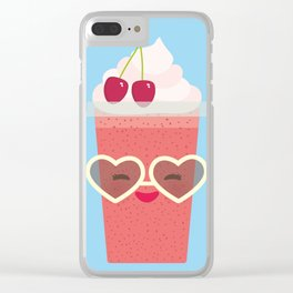 Hello Summer Kawaii cherry smoothie Clear iPhone Case
