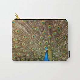 Peacock Spreading Feathers Carry-All Pouch