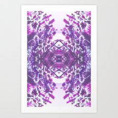winter in purple Art Print