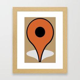 Ici. Framed Art Print