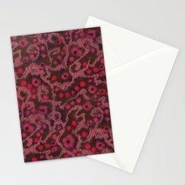 Pink Flowers, Blush Curves, fiber art Stationery Cards
