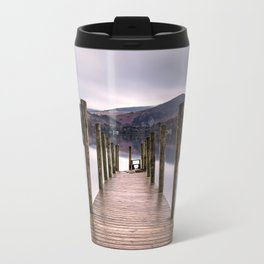 Lake View with Wooden Pier Travel Mug