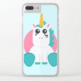 Even Unicorn's Get Sad Clear iPhone Case