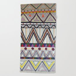 Tribal Pattern Beach Towel