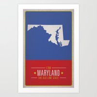 maryland Art Prints featuring MARYLAND by Matthew Justin Rupp