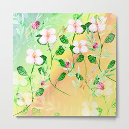 Garden Frenzy Day Metal Print