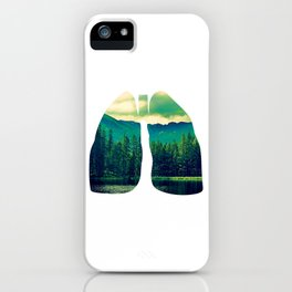 Lung Forest Fresh iPhone Case