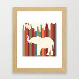 Elephants Play Framed Art Print
