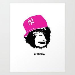 I'nstein Monkey Art Print