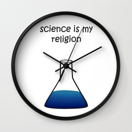 science blue Wall Clock