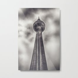 Tower in the Mist Metal Print
