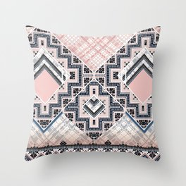 New Folk City Throw Pillow