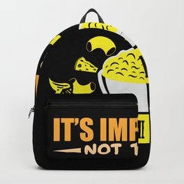 """It""""s impastable not to love Macaroni and cheese Backpack"""