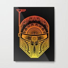 Mandala Boba Fett - Sunset. The baddest bounty hunter in the land. Metal Print