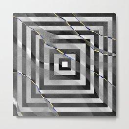 al stylish art squares design for home ornament. Metal Print