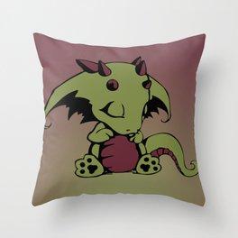 Sleepy Baby Dragon Throw Pillow