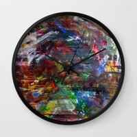 war Wall Clocks featuring WAR by JStudio Art